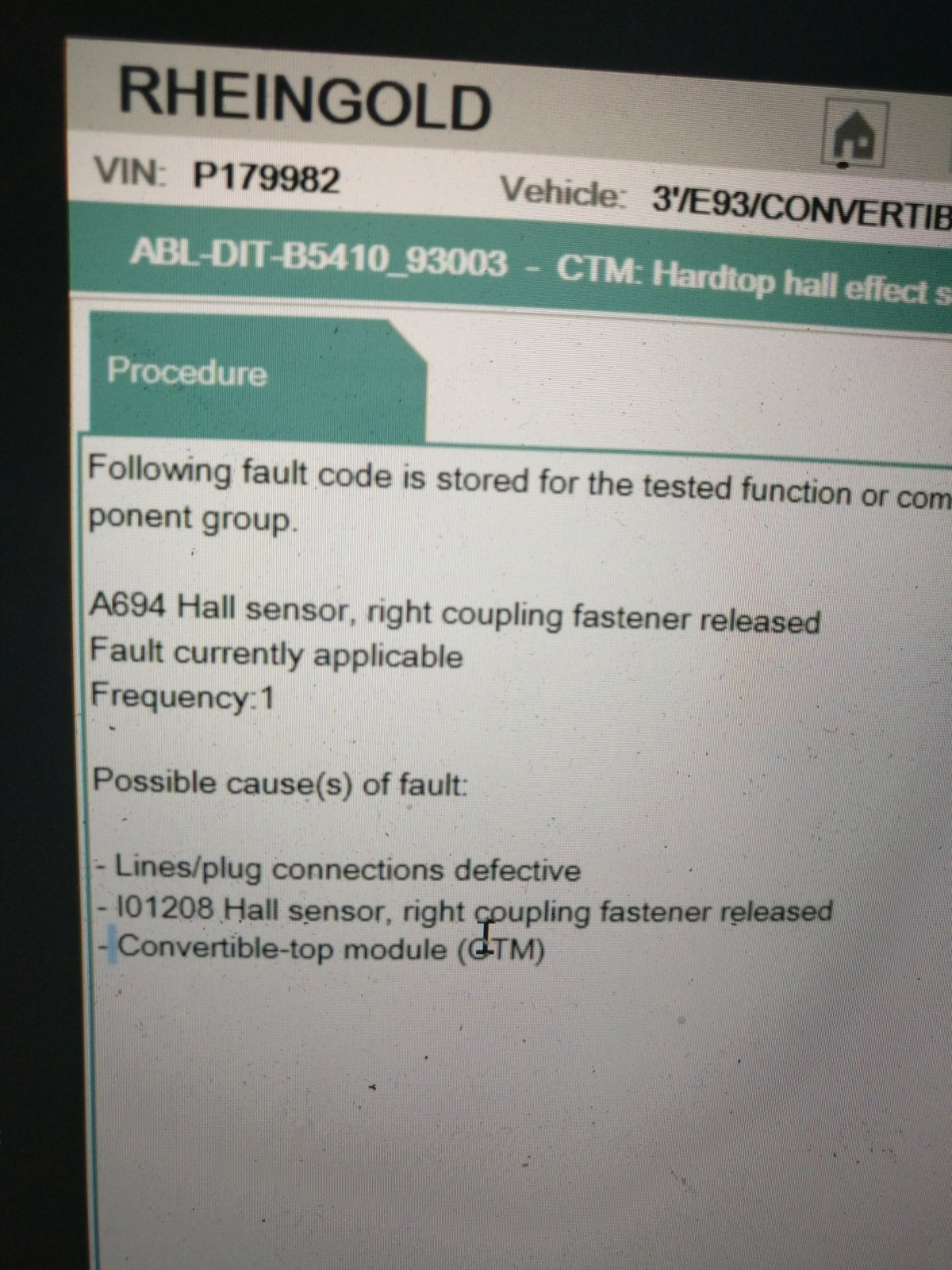 Hardtop Not Locked Error Bmw Fault Code Chart Img 20170502 212552
